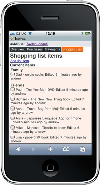 Expensure-xmas-gift-list-iphone